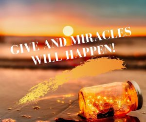 Giving makes miracle happening